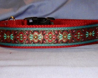 Maroon and Torquoise collar