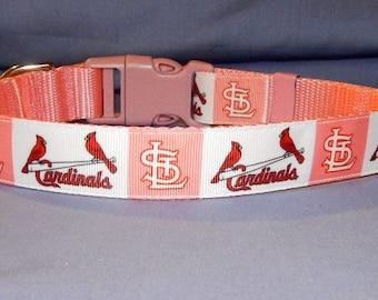 Pink St Louis Cardinals collar