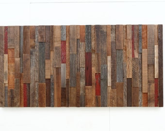 Wood wall art made of old reclaimed barnwood, Different Sizes Available. Large art, wood wall sculpture