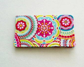 Pink Business Card Holder, Floral Card Holder, Business Card Case, Credit Card Holder, ID Holder, Gift Card Holder