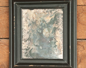 Front Silvered Fine Art Mirror, One of a Kind Silvered Glass Art
