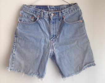 Levi's 505 cut-off jean shorts