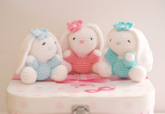 Amigurumi Care Instructions : Easter bunny. Amigurumi kids toy. rabbit. Handmade stuffed