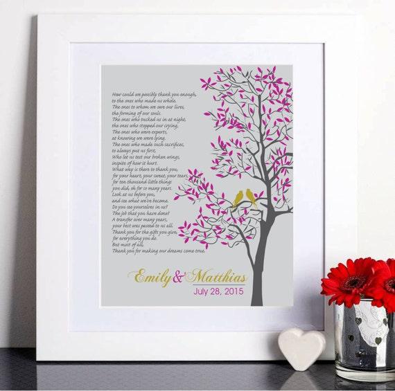 Thank You Wedding Gifts Parents : Wedding Gift Parents, Parents Thank you gift, Future In-Laws Gift ...