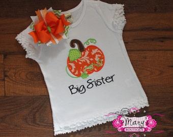 Big Sister Pumpkin Shirt