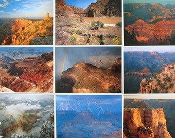 1990 Fred Harvey Grand Canyon Collection Of Twelve Postcards