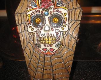 Sugar Skull Coffin