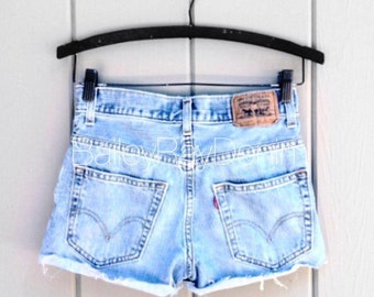 Levis high waisted denim shorts - Plain Cheeky Cutoffs