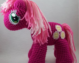 Crocheted my little pony inspired Cheerilee doll made to order