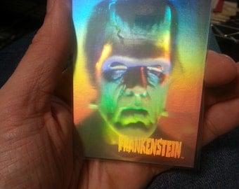 1992 3D Hologram Monster of Frankenstein Pizza Hut Universal Studios card