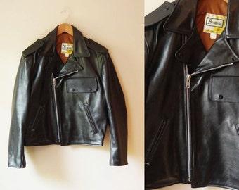 1980s black leather moto jacket // leather jacket // vintage jacket