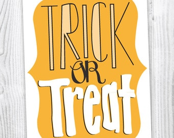 Trick or Treat | Halloween Card