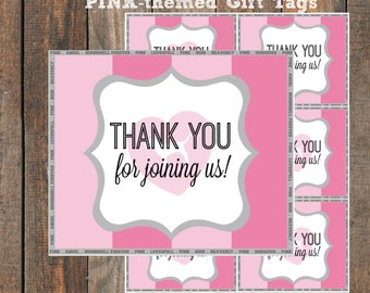 Victoria Secret PINK themed Gift Tags // Thank You Cards