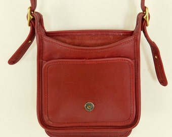 Coach Red Leather Legacy Studio Flap Cross Body Bag