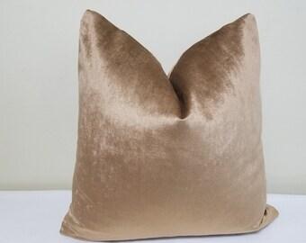 Bronze Velvet Pillow Cover -Cotton Velvet - Decorative throw pillow  - Velvet Cushion- Bronze Velvet Accent Pillow- Lumbar