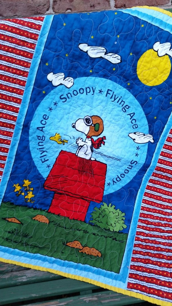 Snoopy Crib Quilt Blanket by QuiltsForU2