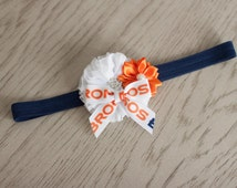Denver Broncos Headband, Denver Broncos Baby Heaband, Broncos Girls Headband, Great Photo Prop