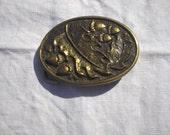 Solid Brass Acorns and Oak Leaves Belt Vintage Buckle, BTS, Made in U.S.A.