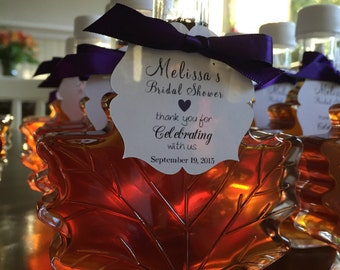 1 case (24) - 100 ml Glass Maple Leafs - 3.4 oz - Pure Vermont Maple Syrup in each Leaf