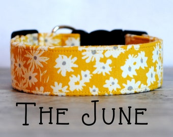 "Vintage Inspired Mustard Dog Collar ""The June"""