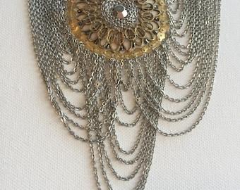 Handmade multi strand statement necklace