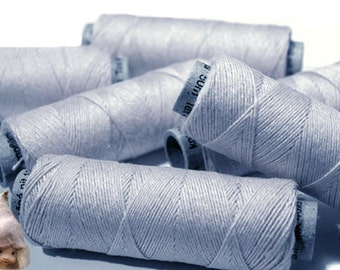 5/10/20 Spools of Linen Threads Light Grey Spools hand & machine quilting sewing craft lace jewelry