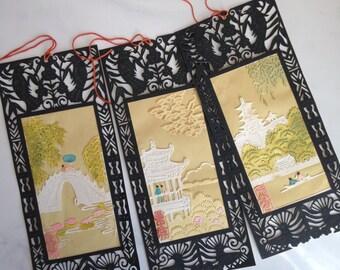 Vintage Handmade Japanese Paper Bookmarks Book Lover Gift  Japanese Cut Paper Art Bookmark  Teacher For Her Gift Under 20