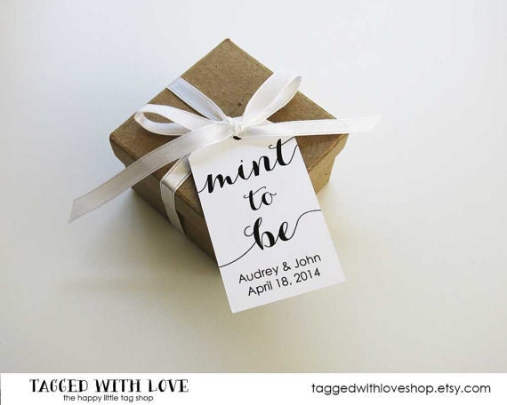Minted Wedding Gift Tags : Mint to be Wedding Favor TagsWedding Favor TagsMint Wedding ...