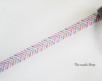 Watercolor Chevron Washi Tape