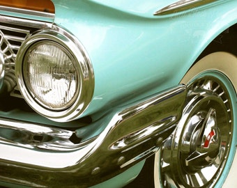 One Headlight - Original Fine Art Photograph (vintage automobile, classic cars, masculine,1960 Impala)