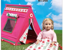 "18"" Dolls SLEEPING BAG and TENT Pattern by McCall's Crafts 7268"