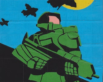 Duct tape painting - Halo - Master chief