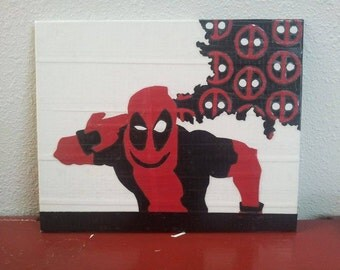 Duct tape painting - Deadpool Borderlands mash up
