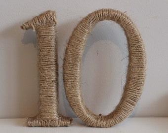 Twine weddings parties table numbers or names