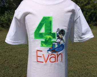 MILES from TOMORROWLAND Personalized EMBROIDERED Birthday Bodysuit or T-shirt-Boys Shirt