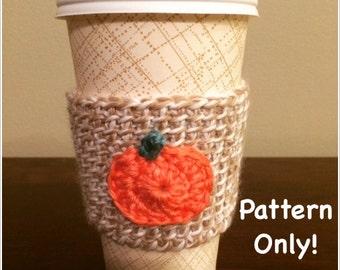 Fall Tunisian Crochet Coffee Sleeve Pattern