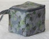 Zippered project yarn box, sock box bag, knitting, crochet, embroidery