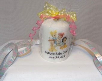 baby princess ariel cinderella belle snow white aurora mulan shower candle