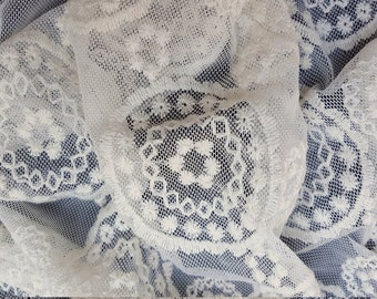 Novelty Ivory Bohemian Lace Fabric by the Yard #2 2-19-16 (Bridal Lingerie)