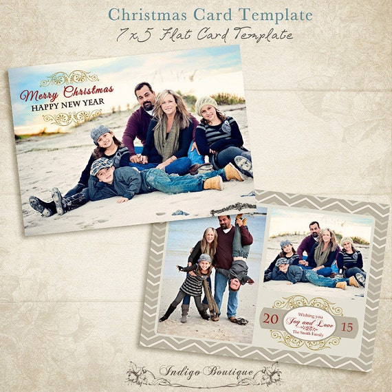 christmas card template 5x7and 4x6 photo card templates. Black Bedroom Furniture Sets. Home Design Ideas