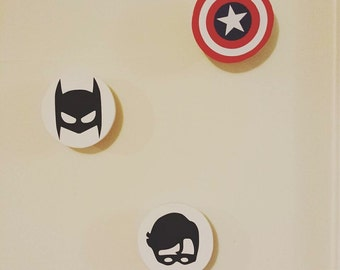 Super Hero Wall Hooks - removable