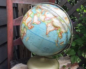 "Beautiful Vintage double axis Rand McNally 12"" Political Globe"