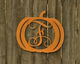 "Pumpkin letter, 20"" Painted"