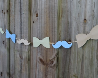 Mustache and Bow Tie Garland