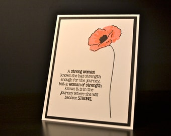Cancer Encouragement Card, Breast Cancer Encouragement Card, Strength Card