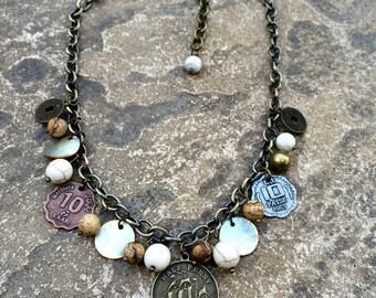 Coin Necklace - Antique Coin Necklace - Gold Coin Necklace - Vintage  Inspired Coin Necklace