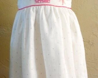 1st Birthday Girl's Appliqued Dress, girls appliqued dress, girls party dress, appliqued dress, personalized dress, monogrammed dresses