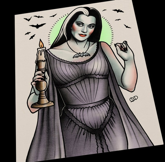 Items similar to Lily Munster Tattoo