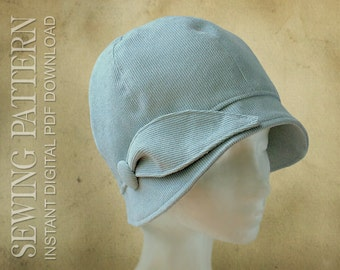 SEWING PATTERN - Penny, 1920s Twenties Cloche Fabric Hat for Child or Adult