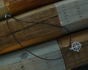 Compass Charm Nautical Necklace